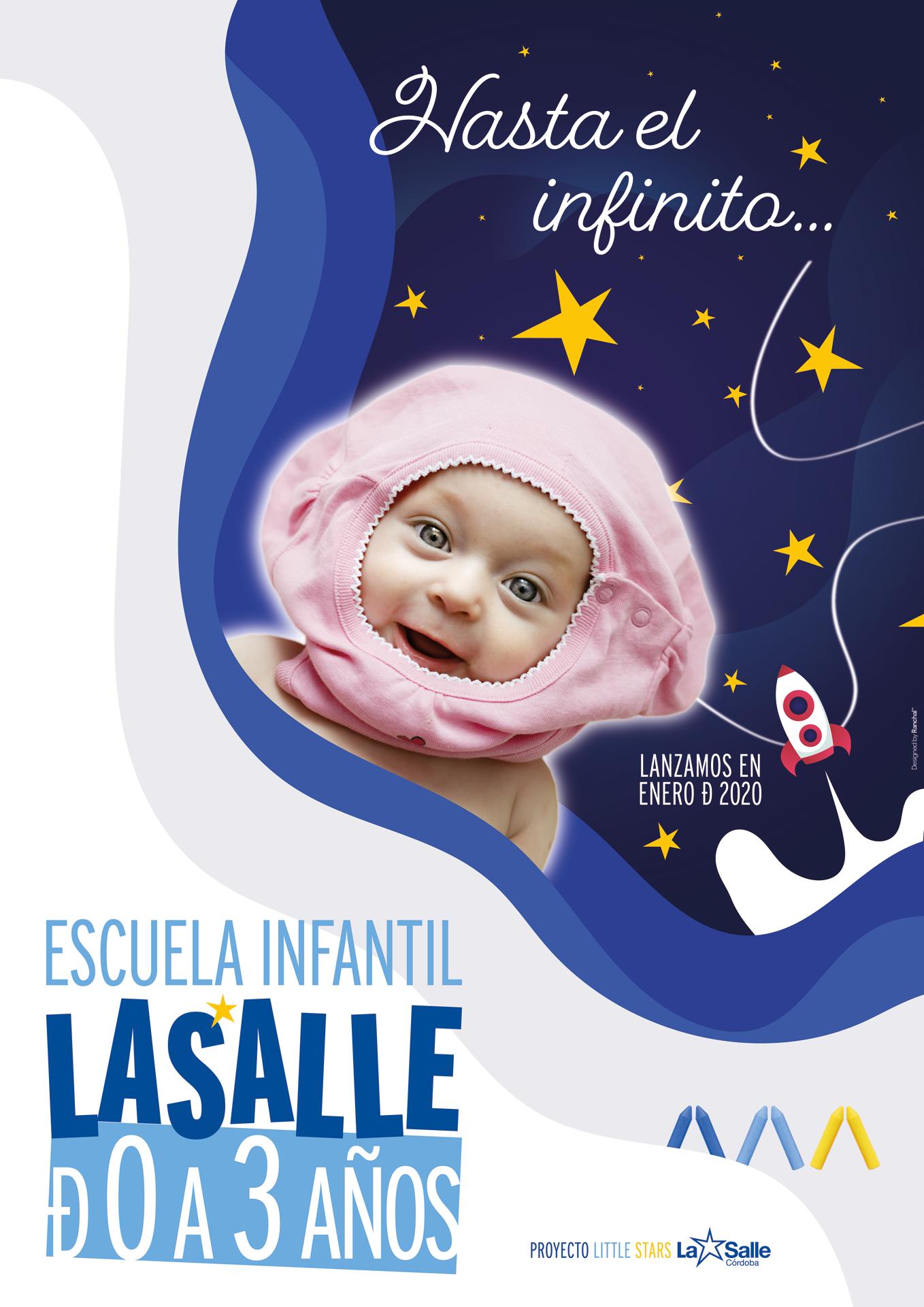 Cartel del Lanzamiento de la Escuela Infantil La Salle, de 0 a 3 años